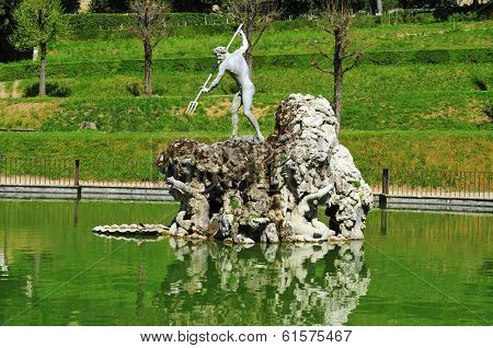 detail of Boboli Gardens, in Florence, Italy