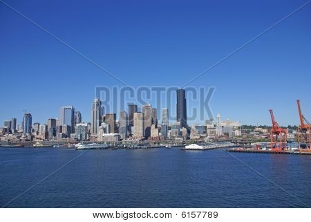 Seattle Waterfront Skyline