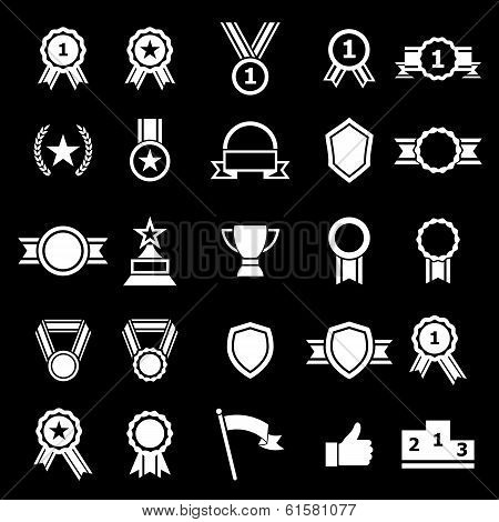 Award Icons On Black Background