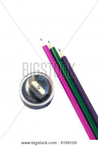 Stock photo : Sharpener And Pencil
