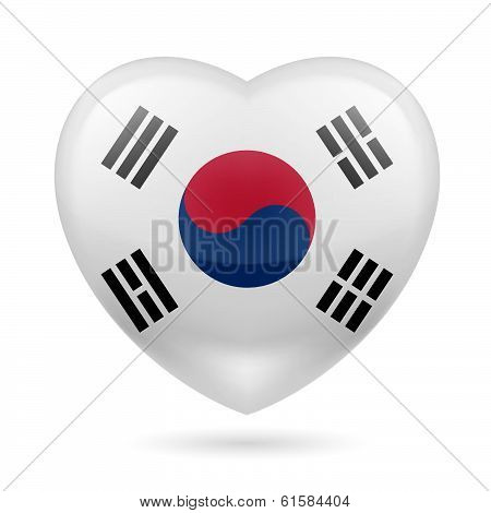 Heart icon of South Korea