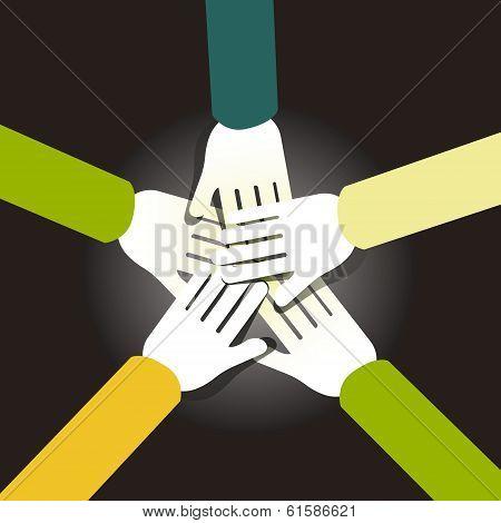 Illustration Concept Of Team