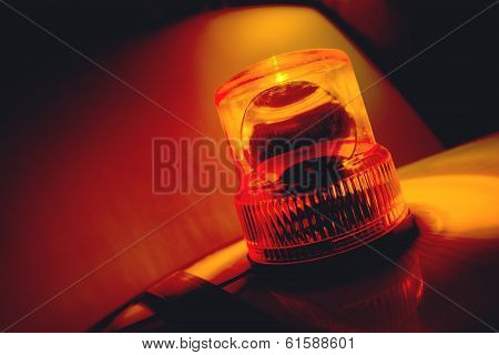 Orange Flashing And Rotating Light