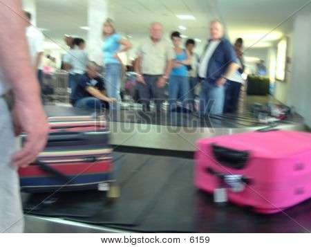 Luggage On Conveyor