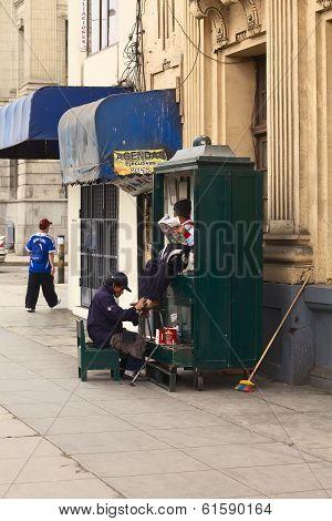 Shoe Cleaning in Lima, Peru