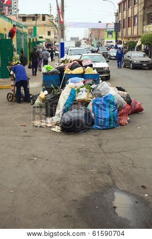 Pile of Garbage in Lima, Peru