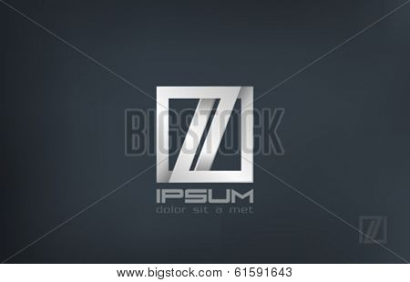 Luxury fashion jewelry abstract vector logo design template. Infinity loop locked symbol. Looped infinite shape icon.