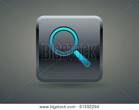 3d Vector illustration of loupe icon