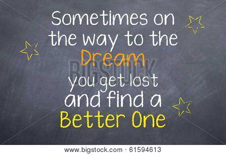 Dreams to new Dreams