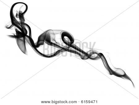 Magic Black Fume Abstract Over White