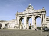 the Triumphal Arch In Cinquantenaire