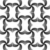 image of uncolored  - Design seamless uncolored twirl movement pattern - JPG