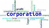 image of non-profit  - A word cloud of corporation related items - JPG