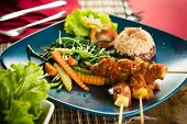 picture of sate  - Organic food of Bali - JPG