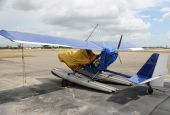 picture of ultralight  - Private ultralight airplane parked on a tarmac - JPG