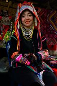Traditionally dressed Akha hill tribe woman
