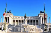 view of the Monumento Nazionale a Vittorio Emanuele II in Rome, Italy