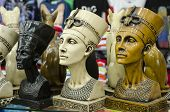 stock photo of nefertiti  - Bust of the ancient Egyptian Queen Nefertiti - JPG