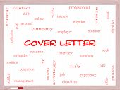 pic of summary  - Cover Letter Word Cloud Concept on a Whiteboard with great terms such as interview resume summary and more - JPG