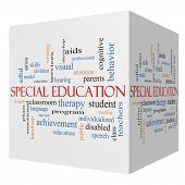 pic of cognitive  - Special Education 3D cube Word Cloud Concept with great terms such as student individualized program and more - JPG