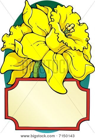 Daffodil bookplate