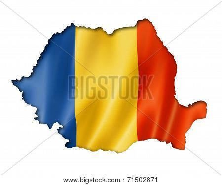 Romanian Flag Map