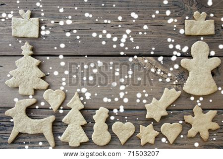 Cookies Background With Snow