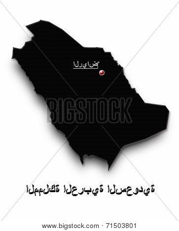 Black Map Of Saudi Arabia