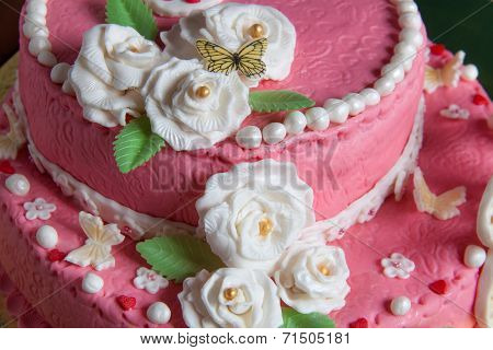 Flowers On The Cake