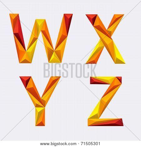 Poligon_orange_yellow_alphabet_w_x_y_z