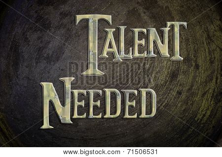 Talent Needed Concept