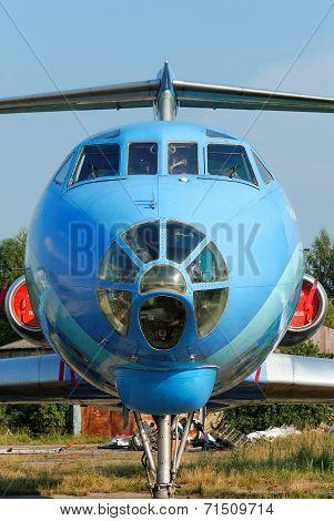 NIZHNY NOVGOROD. RUSSIA. JULY 31, 2014. STRIGINO AIRPORT.TU-134 plane cabin