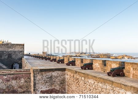 The Cannons On The Skala De Le Ville Fort
