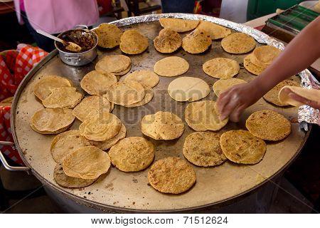 Hand Flipping Tortillas
