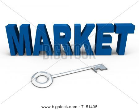 The key to the market - a 3d image