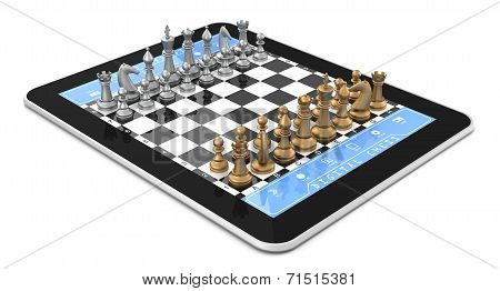 Metal Chess & Tablet Computer