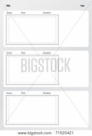Professional Of Film Storyboard Template Vertical