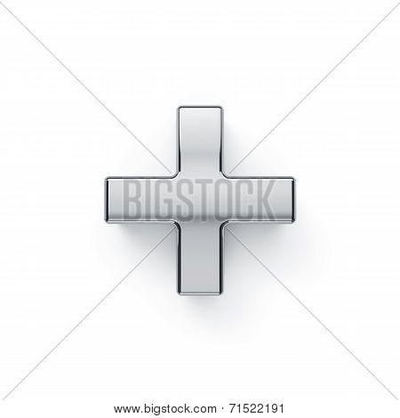 Metalic Arithmetic Plus Simbol - +