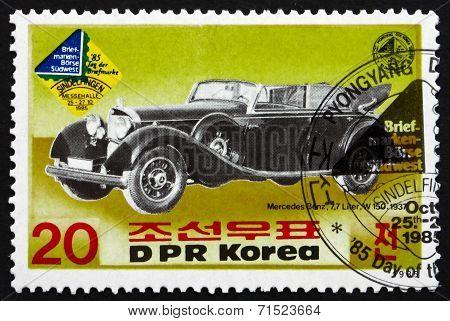 Postage Stamp North Korea 1985 Mercedes Benz Type W150, 1937