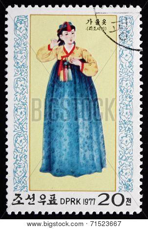 Postage Stamp North Korea 1977 Autumn, Seasonal Costume
