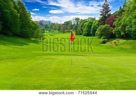 Golf Field European Landscape