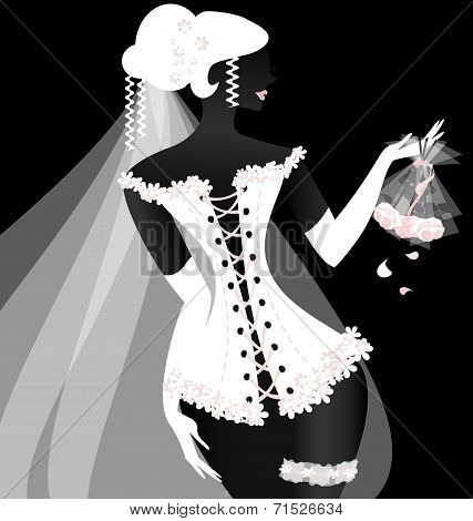 black-white bride