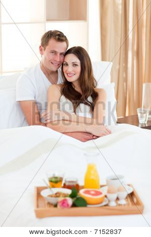 Happy Couple Having An Healthy Breakfast