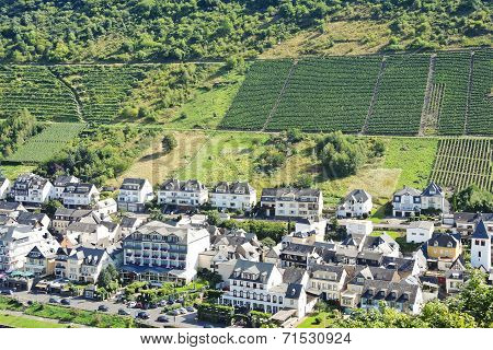 Above View Of Cochem Town, Germany