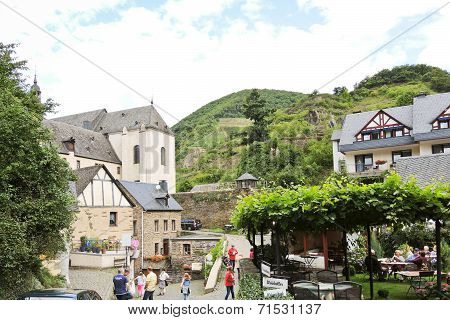 Cityscape Of Beilstein Town, Moselle River Region