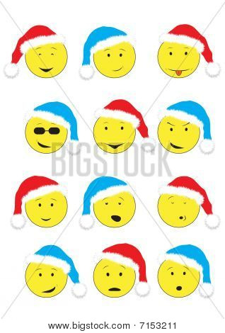 New Year's smileys