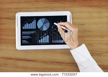 Hand Using Stylus Pen On Digital Tablet 2