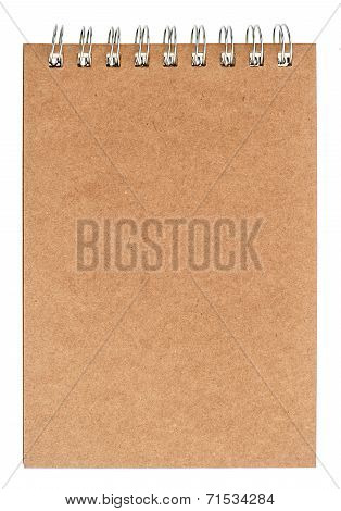 Book With Ring Binder And Recycled Paper Front Cover