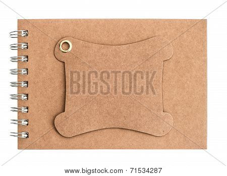 Brown Blank Notebook Isolated On White