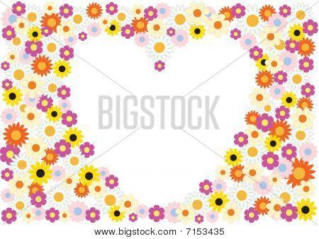 Flowers Herat Background